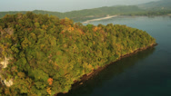 Stock Video Footage of Aerial View: Flying over the tropical island . Krabi, Southern Thailand