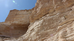 Water stream in the desert of the Negev with audio - stock footage