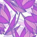 Stock Illustration of elegant seamless pattern with decorative violet tulips, design element