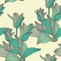 Stock Illustration of elegant seamless pattern with decorative blue tulips, design element