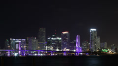 Miami Timelapse Medium Shot HD Stock Footage