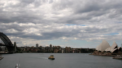 Sydney Harbour 1080p Timelapse Australia. Dark storm clouds over harbour Stock Footage
