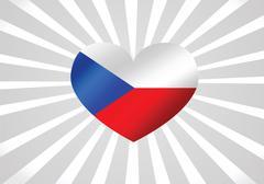 national flag of czech republic themes idea design - stock illustration