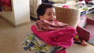 Stock Video Footage of kids help in household duties
