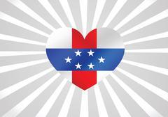 netherlands antilles flag themes idea design - stock illustration