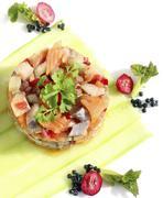 herring salad - stock photo