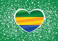 flag of gabon themes idea design - stock illustration