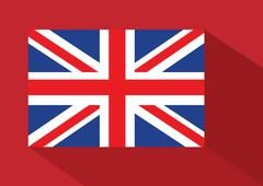 National flag of uk , the united kingdom of great britain and northern irelan Stock Illustration