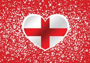 Stock Illustration of england flag with heart