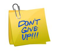 Stock Illustration of do not give up post it illustration design on white background
