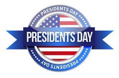 Stock Illustration of presidents day. us seal and banner illustration design