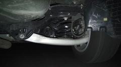 Car Suspension, Wheels, Struts, Auto Parts Stock Footage