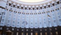 Ukraine's government building Stock Footage