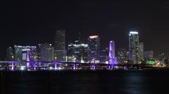 Skyline Miami Timelpase 4K - stock footage