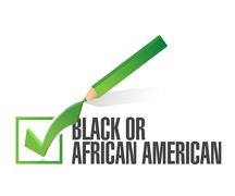 Stock Illustration of race selection. black or african american. illustration design over a white b