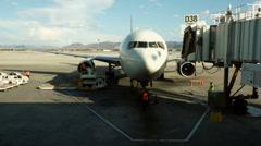 AIRPORT JETWAY PASSENGER BRIDGE - stock footage