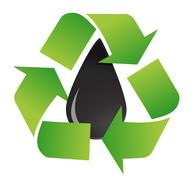 Recycle oil symbol illustration design over a white background design Stock Illustration