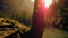 Nature resort background Stock Footage