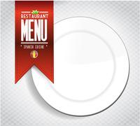 Stock Illustration of spanish restaurant menu texture banner illustration over white