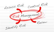 Stock Illustration of risk management process diagram schema illustration design over white