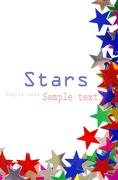 Colored stars background - stock illustration