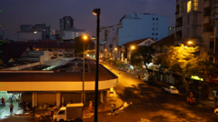 Timelapse of night and day of a street in Ben Thanh Market - stock footage