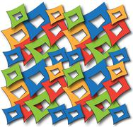 colorful abstract squares - stock illustration