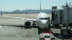AIRPORT JETWAY PASSENGER BRIDGE Stock Footage