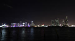 Miami Timelapse Natural Relfection HD Stock Footage