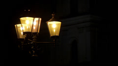 Streetlight at night Stock Footage