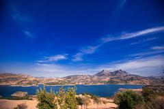 Zahara reservoir, Andalusia, Spain Stock Photos