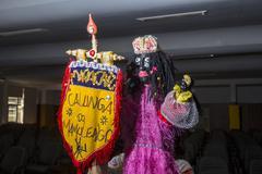 Mamulengo puppet - female character Maracatu Standard bearer Stock Photos