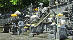 6 different clips of the Radu Gede Temple in Bali Stock Footage