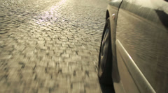 Car ride (wheel detail) Stock Footage