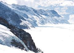 Great Aletsch Glacier Switzerland - stock photo