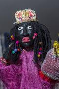 Mamulengo puppet - female character Marieta Stock Photos