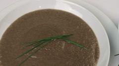 Mushroom Soup Ingredients Stock Footage
