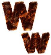 Animal fur decorative alphabet - stock photo