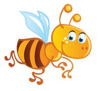 bee cartoon - stock illustration