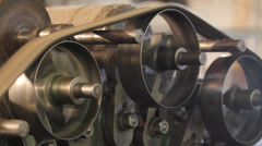 Old machine gears Stock Footage