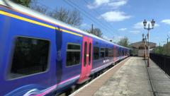First Great Western local train, Hanwell & Elthorne station, London, UK - stock footage