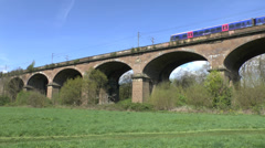 The Wharncliffe Viaduct, part of Brunel's Great Western Railway.  Stock Footage