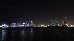 Skyline Miami Timelpase 4K Stock Footage