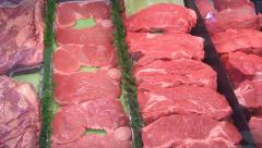 Meat Market Big Cuts - stock footage