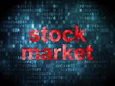 Stock Illustration of Finance concept: Stock Market on digital background