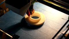Stock Video Footage of 3D Printing Time Lapse