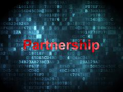 Stock Illustration of Finance concept: Partnership on digital background
