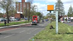 A 30mph speed camera zone in West London, UK. Stock Footage