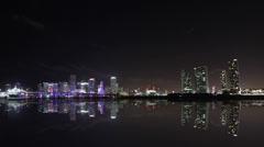 Skyline Miami Timelpase 4K Stock Footage