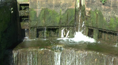 Canal locks on the Grand Union Canal, Hanwell, London, UK. Stock Footage